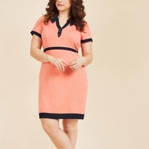 Orange ModCloth sweater knit shirt dress XL